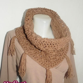 "Valentine day gift, Crochet Scarf, ""Lile"" scarf, Wrap cowl, Shoulder Warp, FREE shipping"