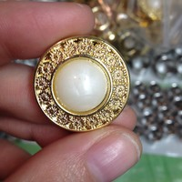 Ornate Gold Pearl Plugs (sizes 2g-7/8) | Plugs By Emma