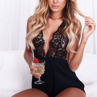 Lovers and Sinners Lace Playsuit