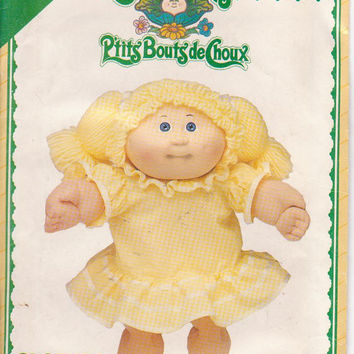 Pattern for Cabbage Patch Kids doll clothes drop waist dress with ruffled skirt and bloomers See and Sew for Butterick 5423 UNCUT