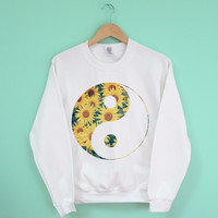 Yin Yang Sunflowers Sweatshirt