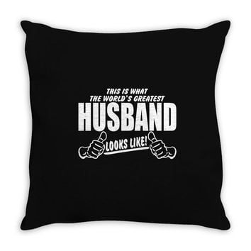 Worlds Greatest Husband Looks Like Throw Pillow