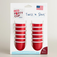 Red Twist and Shot Party Cups, Set of 12 - World Market