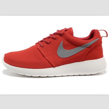 NIKE fashion network sports shoes casual shoes Red gray