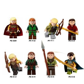 8pcs/1lot Hobbit Lord of Rings Legolas Greenleaf Kids Building Blocks Toys Children DIY Blocks Compatible With Legoingly