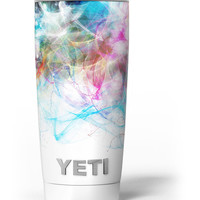 Neon Multi-Colored Paint in Water Yeti Rambler Skin Kit