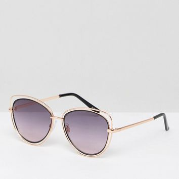 ALDO Thalima Cut Out Cat Eye Sunglasses at asos.com