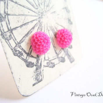 Summer Carnival Earrings  Mini Mum earrings by VintageOoakDesigns