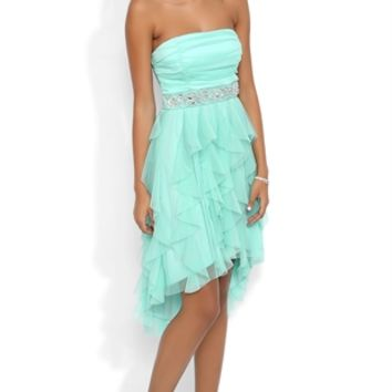 Dress with Mesh Bodice and Tendril Skirt