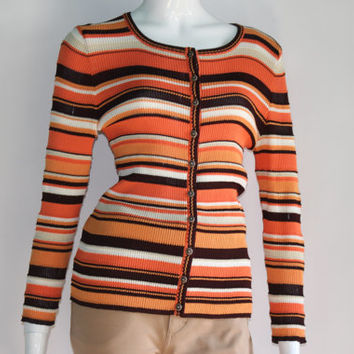 Escada Cardigan (Striped) - SMALL SIZE - EXCELLENT Vintage Condition