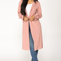 Let's See Different People Jacket - Mauve