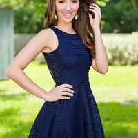 Turn My Way Dress-Navy - DRESSES