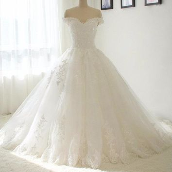 Off The Shoulder Bridal Ball Gown