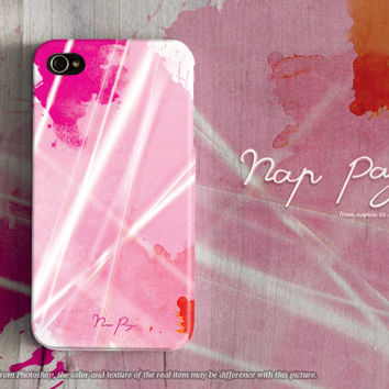 Apple iphone case for iphone iphone 5 iphone 5s iphone 5c iphone 4 iphone 4s iPhone 3Gs : abstract pink water color