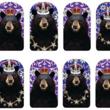 Bear King and Queen Nail Decal
