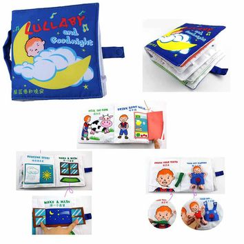 Baby Toys Infant Kids Early Development Cloth Books Learning Education Clothe Books Tell Story Style Baby Quiet Book C006