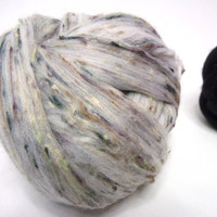 Merino Cotton wool Top Roving super fine, 3 balls total weight 6,98 oz., 198 gs.