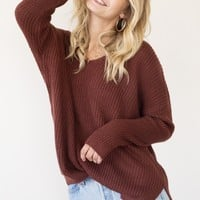 Marlow Sweater - Brick