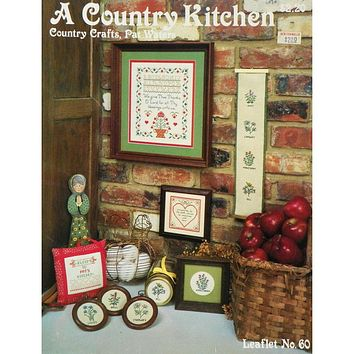 A Country Kitchen - Counted Cross Stitch Leaflet