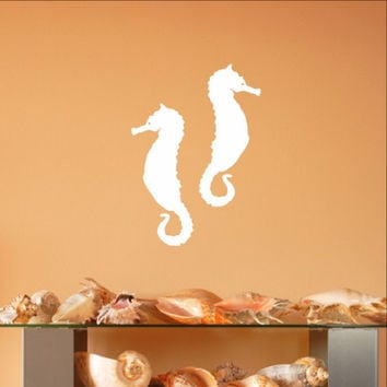 Seahorse Style A Set of 2 Vinyl Wall Decals 22563