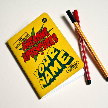 Personalised Notebook of Awesomeness by purplecactusdesign on Etsy