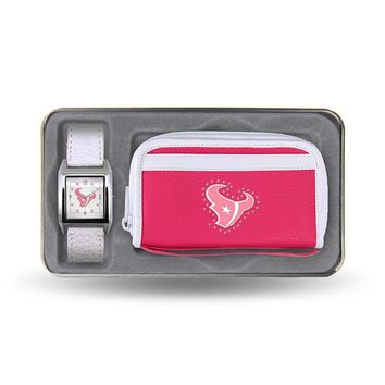Houston Texans NFL Women's Watch and wallet Gift Set