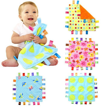 Free Shipping Taggies Colors Blanket,Appease Towels with Stain Tags