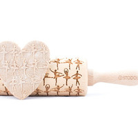 Ballet dancer - Embossed, engraved rolling pin for cookies