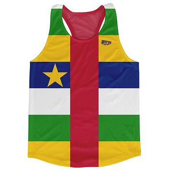 Central African Republic Country Flag Running Tank Top Racerback Track and Cross Country Singlet Jersey