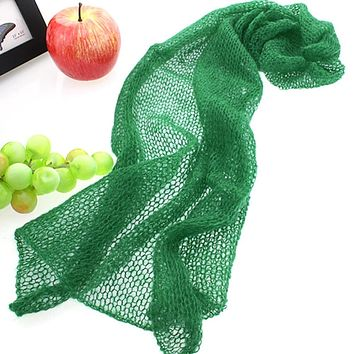 Baby Newborn Infant Soft Crochet Knit Mohair Wrap Cloth Photography Photo Prop
