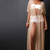 Mesh Maxi Cover Up Dress