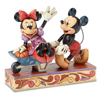 Mickey and Minnie Mouse ''Picking Pumpkins Together'' Figure by Jim Shore