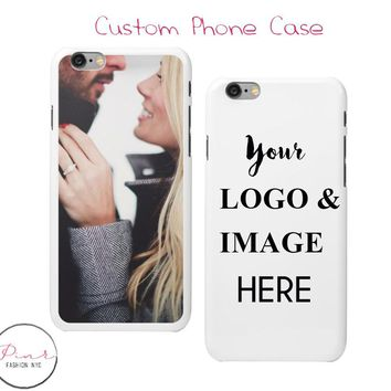 Custom Phone Case - Personal image&logo Phone Case - Personalized Iphone Case Design