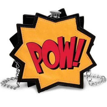 POW! Comic Book Round Flask Purse