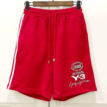 Y-3 2019 new wild casual men and women shorts red