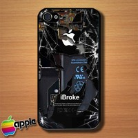 iBroke Apple iPhone Funny Gag Custom iPhone 4 or 4S Case Cover