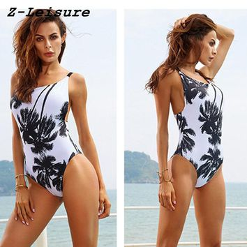 New Bathing Suits Floral Swimwear Women 2018 One Piece Swimsuit Female Sport Swimming Suits for Women BK1816