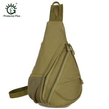 Men Tactical Chest Pack Outdoor Travel Crossbody Sling Bag Hiking Camping Equipment Army Military Police Equipment Chest Bag