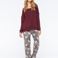 COSMIC LOVE Polar Deer Womens Fleece Pants | Pajamas
