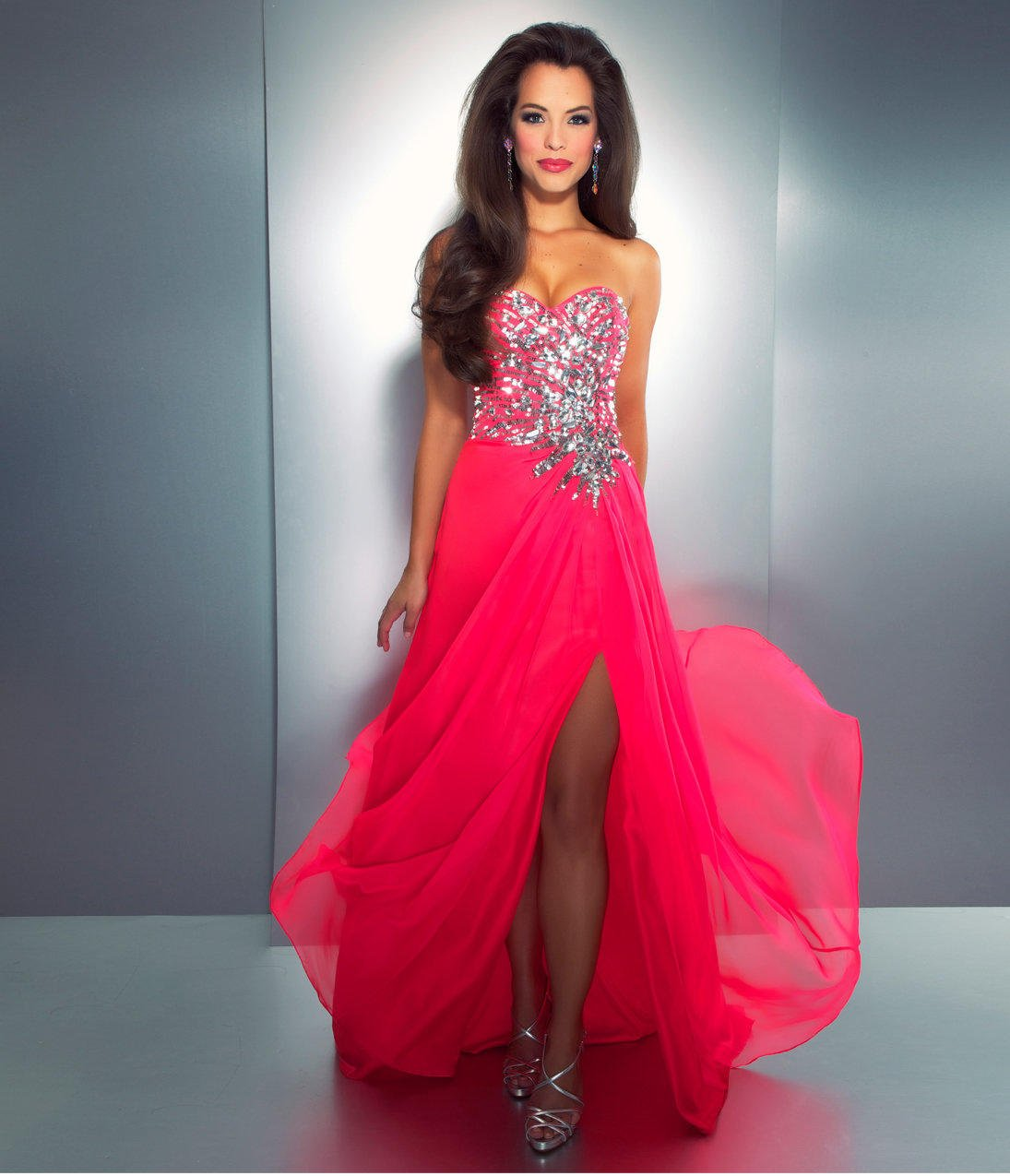 Mac Duggal Prom 2013 Strapless Hot Pink From Unique Vintage