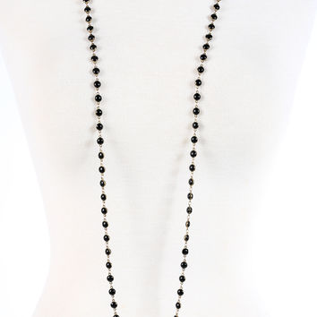 The Daisy Necklace - Black