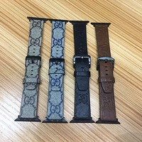 GUCCI EMBOSS APPLE WATCH BAND