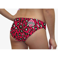 Ohio State Buckeyes Women's Lady Cat Print Swim Suit Bottom