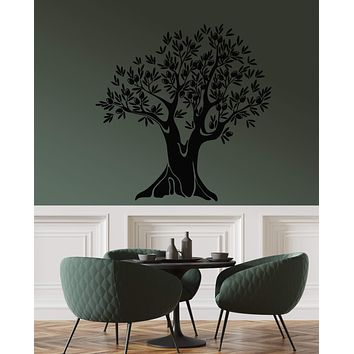 Vinyl Wall Decal Nature Olive Tree Kitchen Decor Branch Leaves Stickers (3123ig)