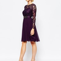Coast Lori Lee Lace Sleeved Short Dress at asos.com