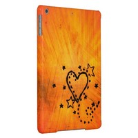 Orange Heart iPad Air Case