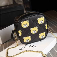 Summer Korean Stylish Print Chain One Shoulder Bags [6582740167]