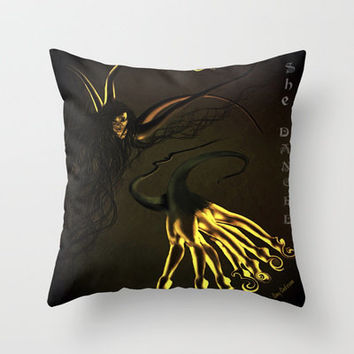 She Danced Throw Pillow by    Amy Anderson