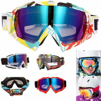Skiing Glasses Lens UV400 Anti-fog Ski Goggles Snow Skiing Snowboard Motocross Goggles Ski Masks or Eyewear for Winter 5Colors