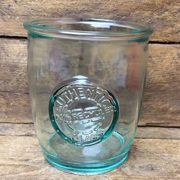 "Authentic 100% Recycled Glass 4"" Tumbler by Vidrios San Miguel"